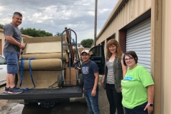 Move in day for a New Beginnings family! Volunteers from Arms of Hope load a truck full of furniture from the New Beginnings storage unit for a new New Beginnings Family. Thank you Arms of Hope for all you do to help New Beginnings help homeless children and families!